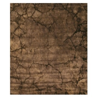 """Black Contemporary Dip Dyed Rug - 2'6"""" x 10'"""