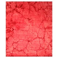 Pink Contemporary Dip Dyed Rug - 3' x 5'