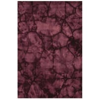 Purple Contemporary Dip Dyed Rug - 3' x 5'