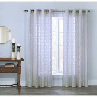 Voltaire geomtric semi sheer curtains