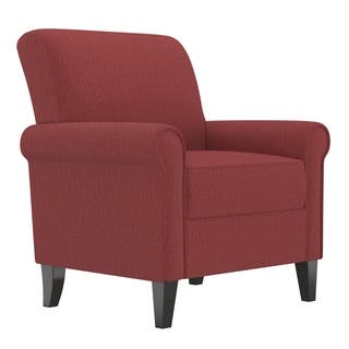 Buy Accent Chairs Red Linen Living Room Chairs Online At Overstock
