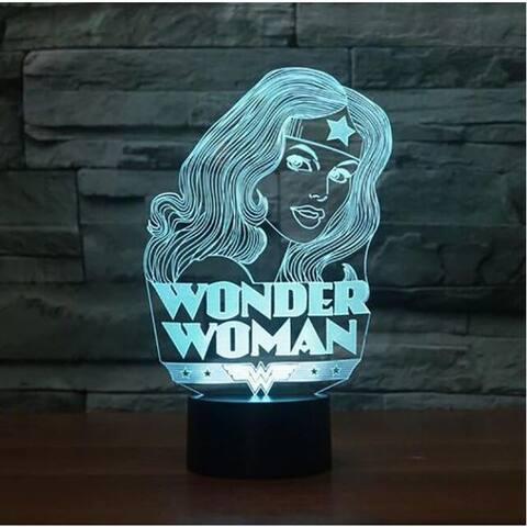 Smart Touch 3D Illusion 7-Color LED Light - Wonder Woman