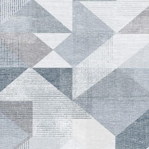 Silk Screen Geometric Wallpaper
