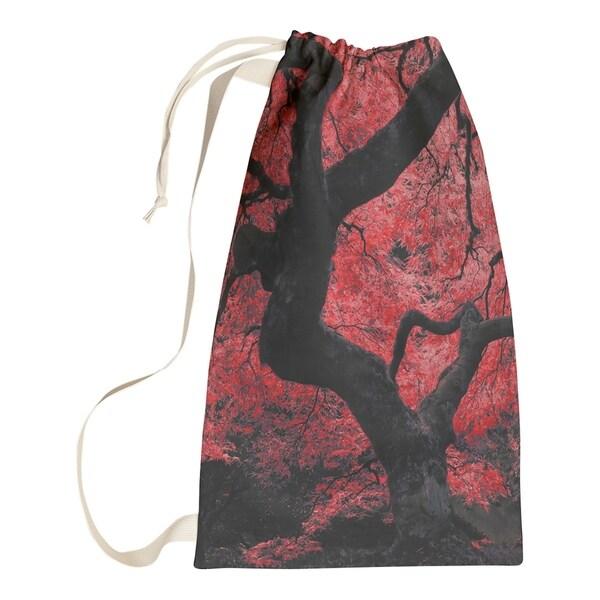 Justin Duane Red Japanese Maple Tree Laundry Bag