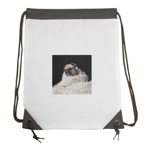 23c2753d4bbd Shop Matthew Smith Pug in Blanket Drawstring Gym Bag - Drawstring Gym Bag -  Free Shipping Today - Overstock.com - 27116339