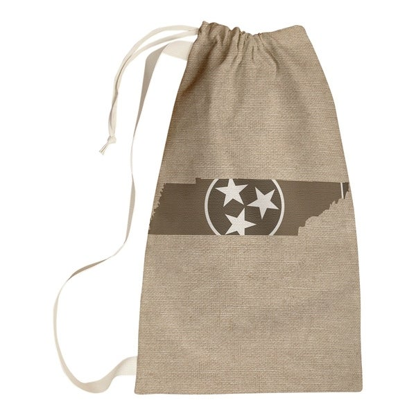 Katelyn Smith Tennessee Flag Sepia Laundry Bag