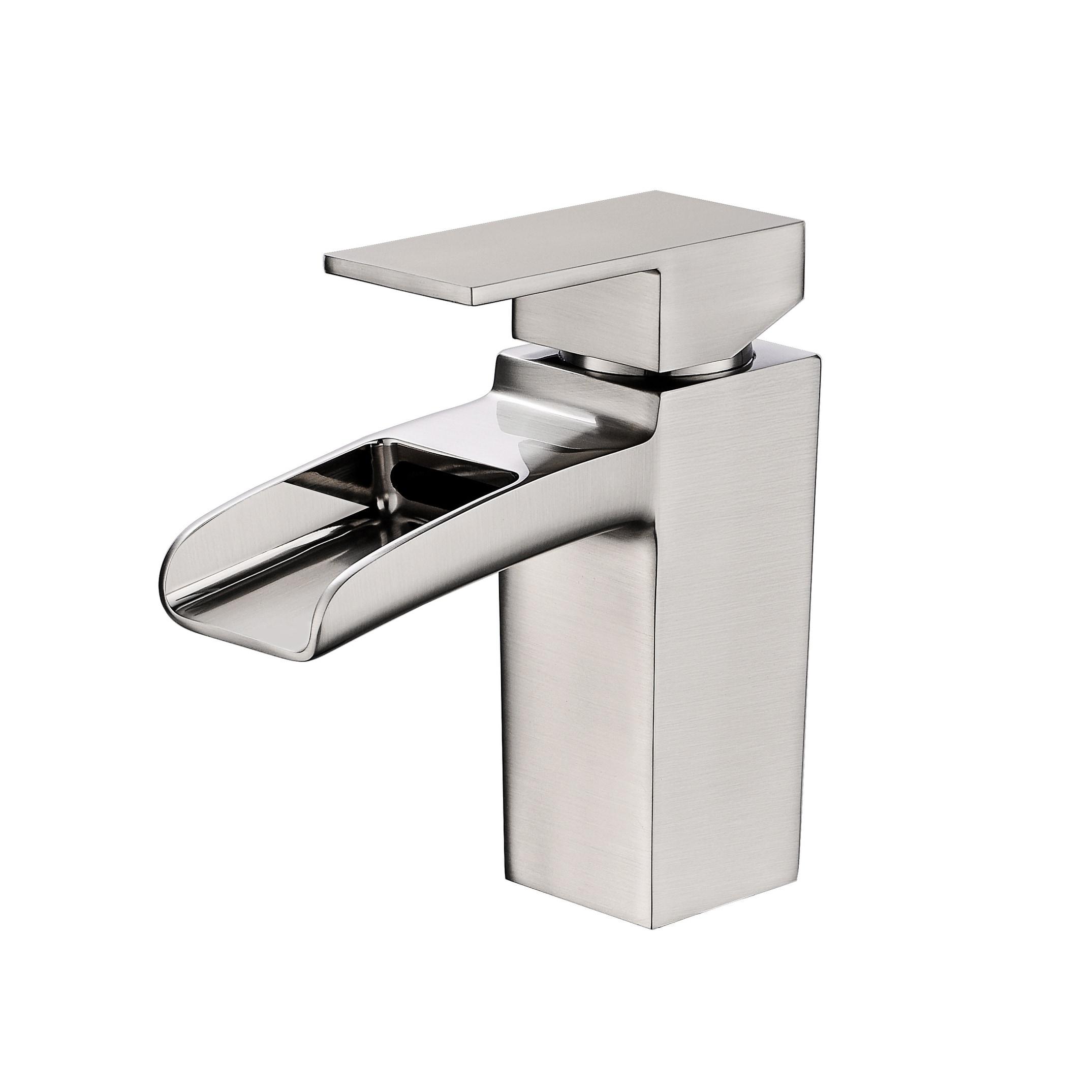 Shop Black Friday Deals On Vanity Art 6 Inch Waterfall Spout Bathroom Vessel Sink Faucet Single Handle Single Hole Basin Tap Deck Mount Brushed Nickel Overstock 27119648