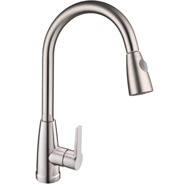 Vanity Art Pull out kitchen faucet, brushed nickel. Opens flyout.