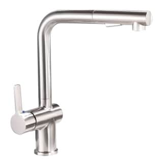 Link to Vanity Art Pull Out Kitchen Faucet Brushed Nickel Finish High Arc Single handle Stainless Steel Kitchen Sink Sweep Spray Faucet Similar Items in Faucets