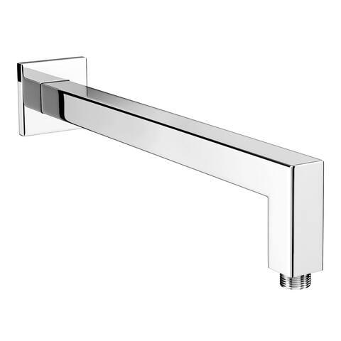 "Vanity Art 9"" brass Square Shower arm ,chrome"
