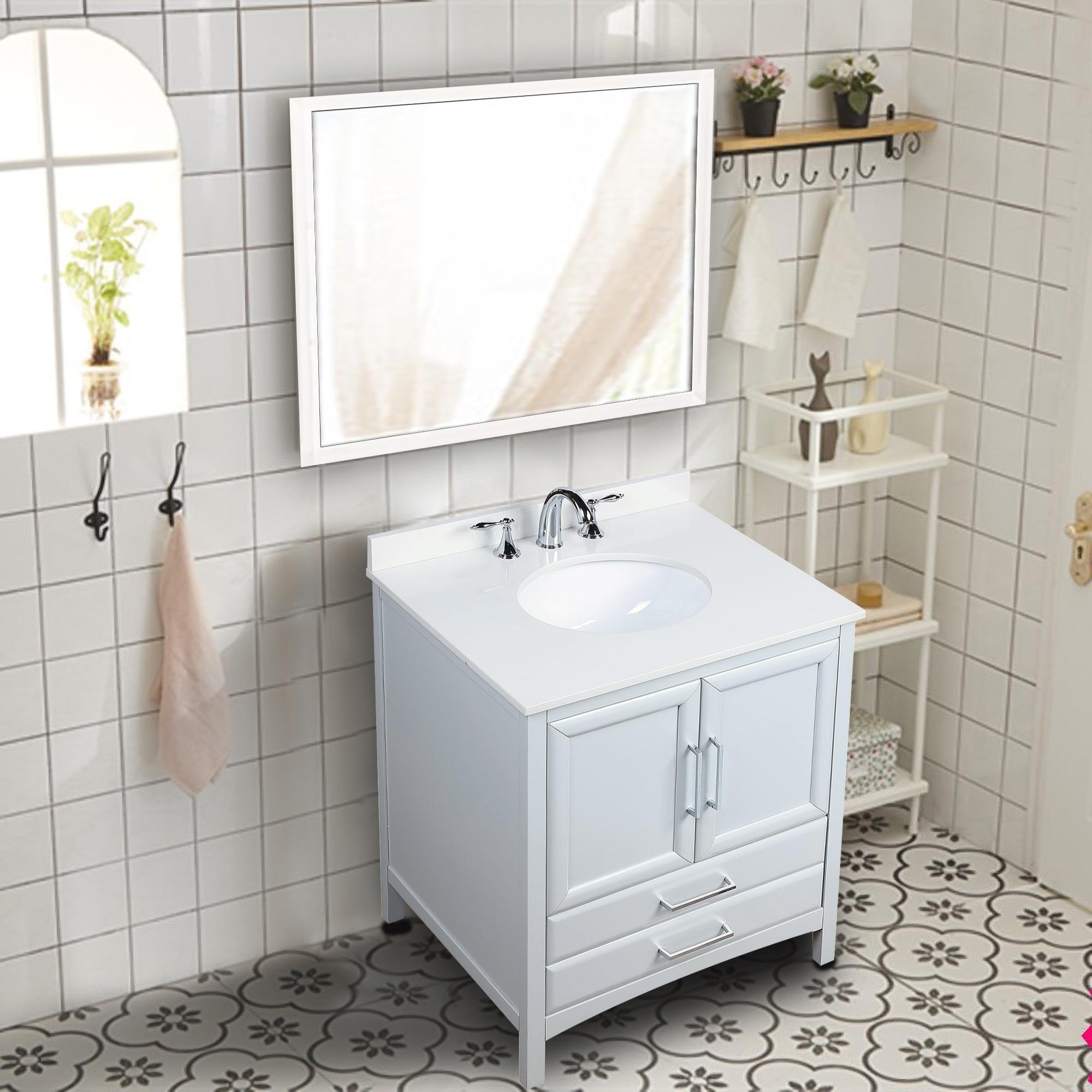 Single Sink Bathroom Vanity Set 1 Shelf
