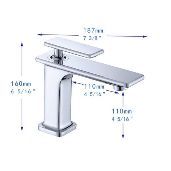 Height Bathroom Vessel Faucet Single