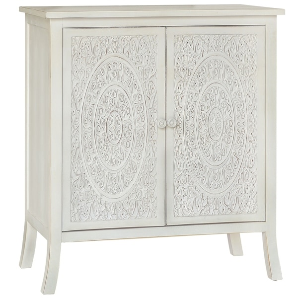 Antiqued Carved Cabinet