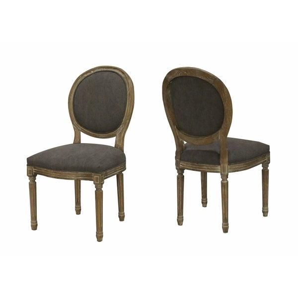 Shop Martina Modern French Dining Chair   Frosted Grey (SET OF 2)   Free  Shipping Today   Overstock.com   27120723