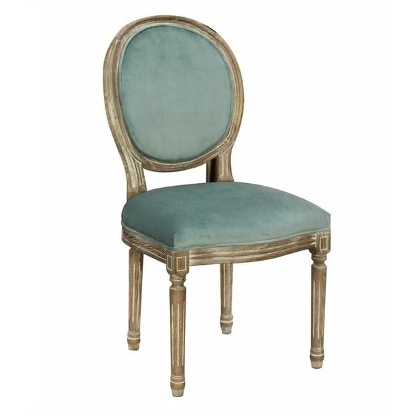 Martina Modern French Style Dining Chair-Blue Velvet (SET OF 2). Opens flyout.
