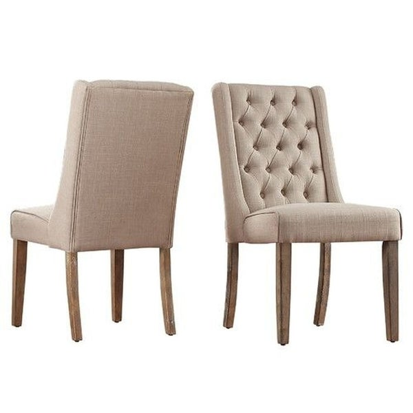 Good Shop Luci Modern French Style Dining Chair   Linen Beige(SET OF 2)   Free  Shipping Today   Overstock   27120766