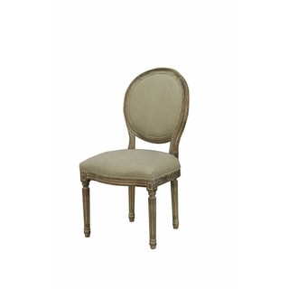 Martina Modern French Style Dining Chair -Linen Beige (SET OF 2)