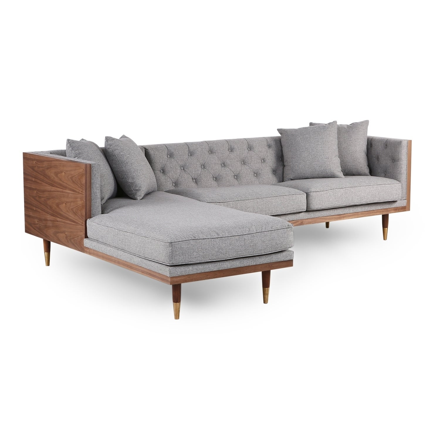 Image of: Shop Black Friday Deals On Kardiel Woodrow Neo Mid Century Modern Sofa Sectional Overstock 27120842
