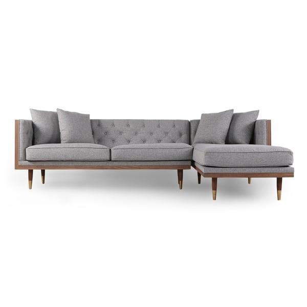 Shop Kardiel Woodrow Neo Mid-century Modern Sofa Sectional ...