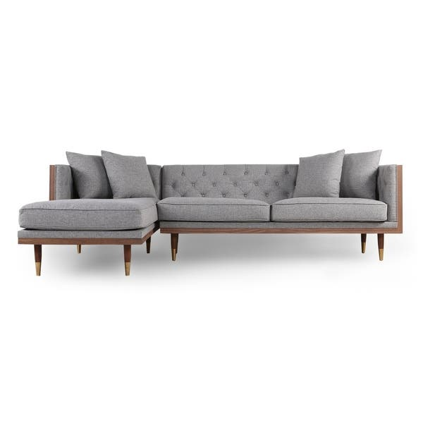 Shop Kardiel Woodrow Neo Mid-century Modern Sofa Sectional ...