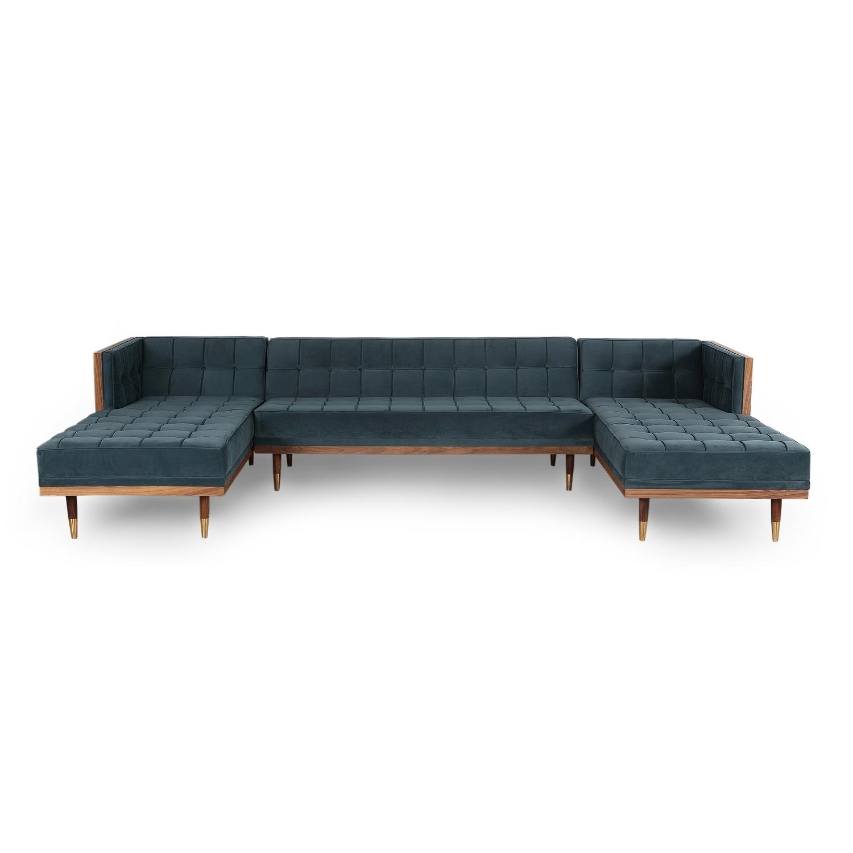 Kardiel Woodrow Box Mid-century Modern Sofa U Sectional