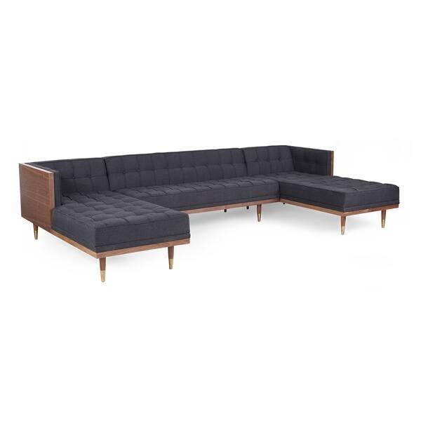 Groovy Shop Kardiel Woodrow Box Mid Century Modern Sofa U Sectional Cjindustries Chair Design For Home Cjindustriesco