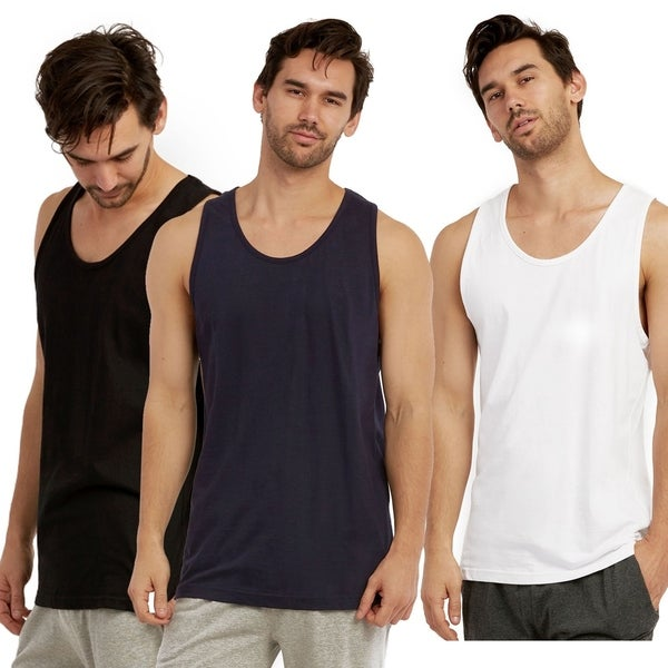 Ultimate Comfy Cottonbell MenS Heavy Tank Top (6 Pack)