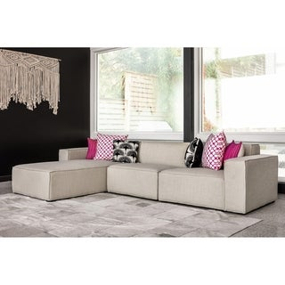 Link to Kardiel MODUS Modern Modular 3-pc Sofa & Chaise Sectional Similar Items in Living Room Furniture
