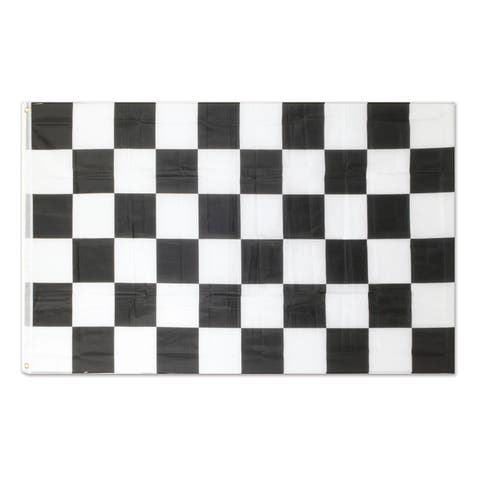 Beistle 3' x 5' Racing Theme Novelty Checkered Flag with 2 Grommets - 12 Pack (1/Pkg)