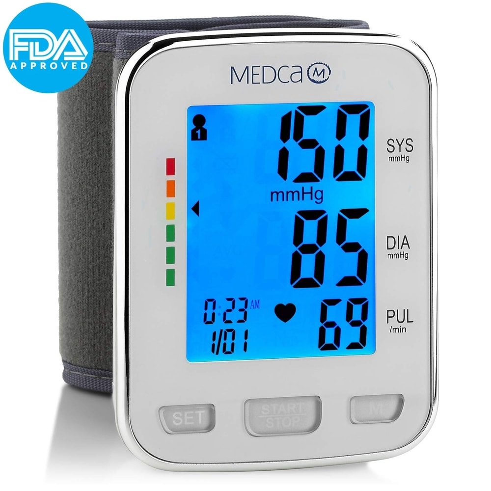 Blood Pressure Monitor Cuff Wrist Automatic Bp Digital Machine by MEDca