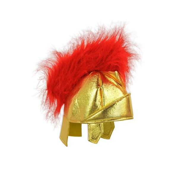 Beistle Red/Gold Fabric Italian Roman Theme Costume Party Helmet (Pack of 6 1/Card)
