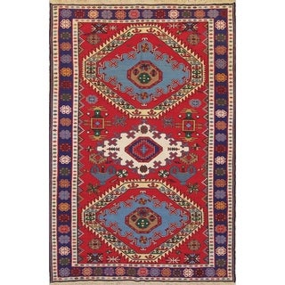"Kilim Geometric Hand Woven Wool Persian Area Rug - 9'8"" x 6'5"""