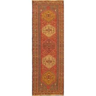 "Kilim Geometric Hand Woven Wool Persian Rug - 9'8"" x 3'7"" Runner"