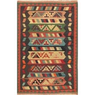 "Kilim Modern Geometric Hand Woven Wool Persian Area Rug - 5'1"" x 3'4"""