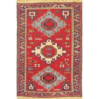 "Kilim Geometric Hand Woven Wool Persian Area Rug - 6'8"" x 4'6"""