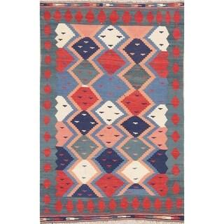 "Kilim Geometric Hand Woven Wool Persian Area Rug - 6'0"" x 3'11"""