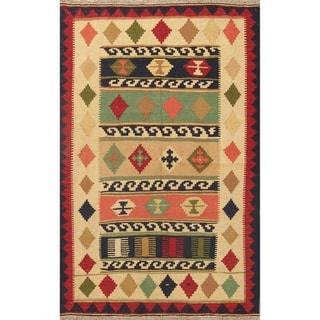 "Kilim Modern Hand Woven Wool Persian Area Rug - 6'3"" x 4'1"""