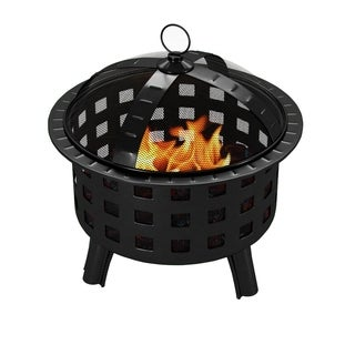 Regal Flame Ouray Black Outdoor Backyard Garden Home Light Fire Pit