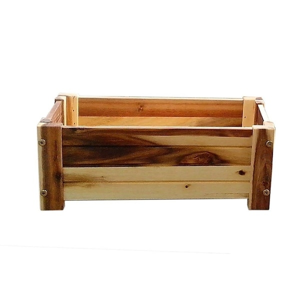 Happy Planter HP413 Large Wood Barrel Outdoor Planter, Size: 20.5 in. x 12.25 in. x 10.25 in. Color: Standard Brown, 3 Pc Pack