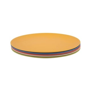 Link to Melange 6-Piece Bamboo Dinner Plate Set (Rounds Collection)|Shatter-Proof and Chip-Resistant Bamboo Dinner Plates| Multicolor Similar Items in Dinnerware