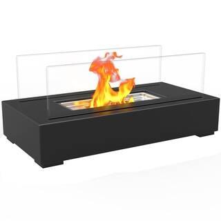 Regal Flame Utopia Ventless Tabletop Portable Bio Ethanol Fireplace in Black