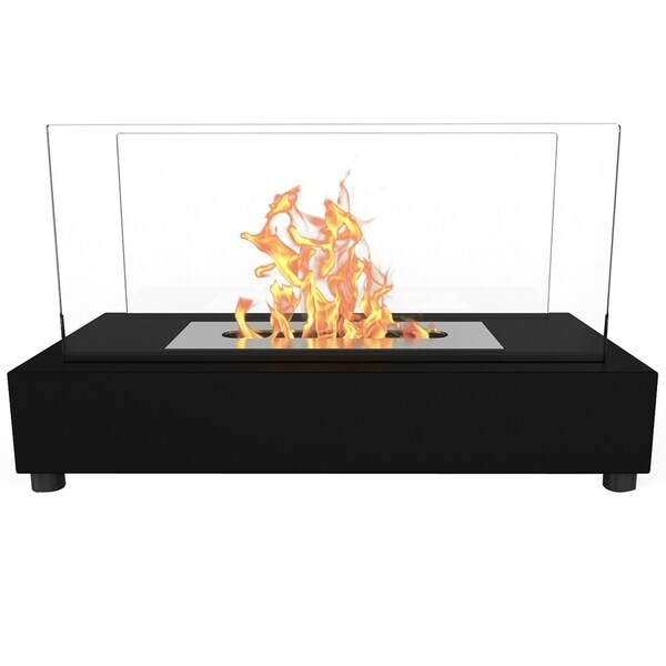 Regal Flame Avon Tabletop Portable Bio Ethanol Fireplace in Black