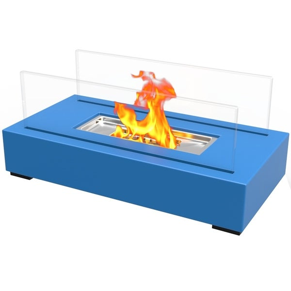 Regal Flame Utopia Ventless Tabletop Portable Bio Ethanol Fireplace in Blue