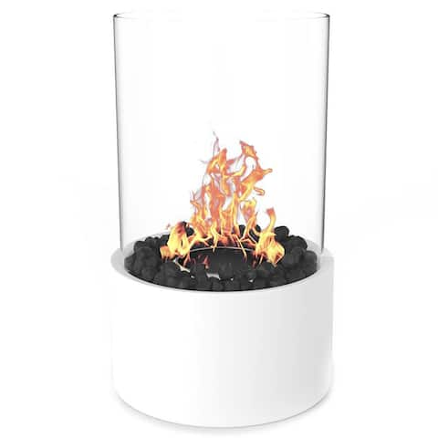 Regal Flame Eden Ventless Tabletop Portable Bio Ethanol Fireplace in White