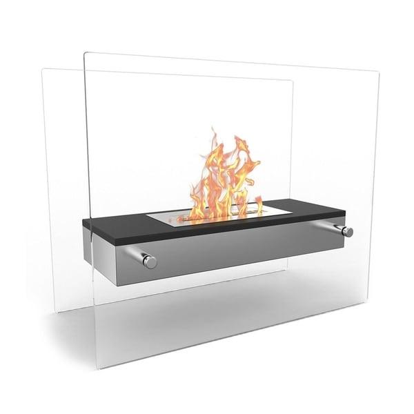 Regal Flame Vista Tabletop Portable Bio Ethanol Fireplace in Black