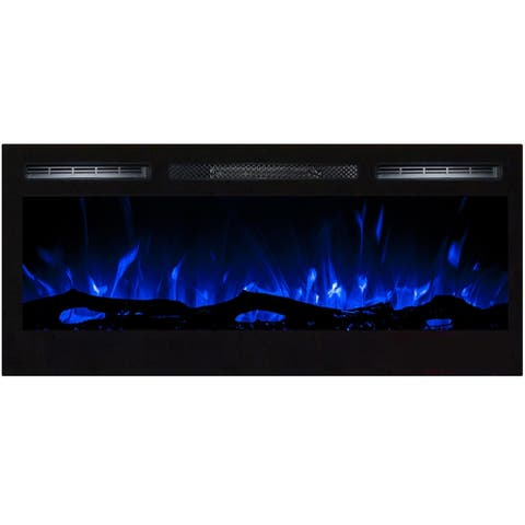 """Regal Flame Lexington 35"""" Built-in Ventless Heater Recessed Wall Mounted Electric Fireplace - Log"""