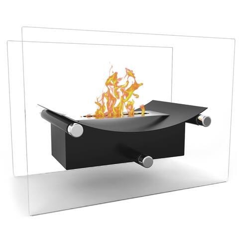 Regal Flame Arkon Tabletop Portable Bio Ethanol Fireplace in Black