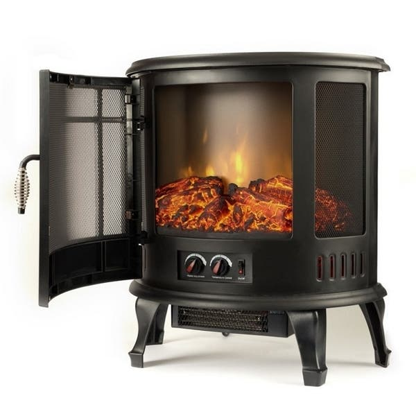 Shop Regal Flame 22 Heater Ventless Curved Electric Fireplace
