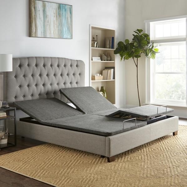 Shop Sleep Sync Adjustable Bed Base Upholstered Split King