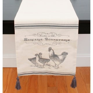 French Chicken Table Runner and Set of Four Placemats
